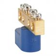 Шина нулевая с одним изолятором OptiKit BB-O-N-S-4-6х9-синий
