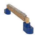 Шина нулевая с двумя изоляторами OptiKit BB-T-N-S-4-6х9-синий