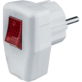 Вилка Navigator 61 364 NCA-PL05-16A-ESC-WH угловая с/з с/выключ. белая