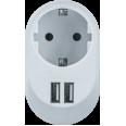 Адаптер Navigator 61 454 NAD-USB01-1E-C-WH с/з 1 гн. USB3.4A