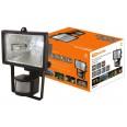 Прожектор ИО150Д (детектор) галоген.черный IP54 TDM