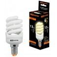 Лампа энергосберегающая КЛЛ-FSТ2-13 Вт-2700 К–Е14 КОМПАКТ (41х95 мм) TDM