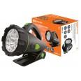 Фонарь `Прожектор`, аккумуляторный, подставка, 6 Вт галогенная лампа, 9 светодиодов 80 лм/Вт TDM