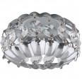 DLS-F103 GU5.3 CHROME/CLEAR Светильник декоративный встраиваемый ТМ `Fametto`, серия `Fiore`. Без лампы, цоколь GU5.3. Основание металл, цвет хром. Отделка кристалл, цвет прозрачный.