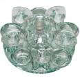 DLS-F123 G4 GLASSY/CLEAR Светильник декоративный встраиваемый ТМ `Fametto`, серия `Fiore`. Без лампы, цоколь G4. Основание стекло, цвет зеркальный. Отделка кристалл, цвет прозрачный.