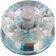 DLS-L117 G9 GLASSY/RAINBOW Светильник декоративный встраиваемый, серия Luciole. Без лампы, цоколь G9. Доп. светодиодная подсветка 1Вт. Стекло/стекло. Зеркальный/радужный. ТМ Fametto