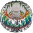 DLS-F115 G9 CHROME/COLOUR Светильник декоративный встраиваемый ТМ `Fametto`, серия `Fiore`. Без лампы, цоколь G9. Основание металл, цвет хром. Отделка кристалл, цвет радужный.