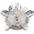 DLS-F127 G4 CHROME/CLEAR Светильник декоративный встраиваемый, серия Fiore. Без лампы, цоколь G4. Металл/стекло. Хром/прозрачный. ТМ Fametto