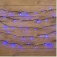 Гирлянда `Твинкл Лайт` 6 м, темно-зеленый ПВХ, 40 LED, цвет: Синий