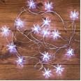 Гирлянда светодиодная `Снежинки` 20 LED БЕЛЫЕ 2,8 метра