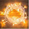 Гирлянда `Твинкл Лайт` 6 м, прозрачный ПВХ, 40 LED, цвет ТЕПЛЫЙ БЕЛЫЙ