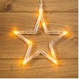 Фигура светодиодная `Звездочка` на присоске с подвесом, цвет ТЕПЛЫЙ БЕЛЫЙ
