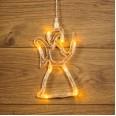 Фигура светодиодная `Ангелок` на присоске с подвесом, цвет ТЕПЛЫЙ БЕЛЫЙ