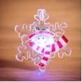 `Снеговик на снежинке` RGB на присоске