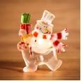 `Снеговик с подарком` RGB на присоске