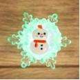 `Снеговик на снежинке` RGB 5,5*5,5 см
