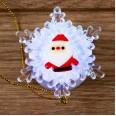 `Дед мороз на снежинке` RGB 5,5*5,5 см