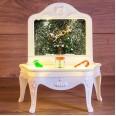 Декоративный светильник `Столик` с эффектом снегопада, подсветкой и новогодней мелодией