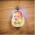 Фигурка подвесная `Санта Клаус` RGB 8*6 см