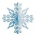 Елочная фигура `Снежинка ажурная 3D`, 23 см, цвет синий
