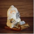 Керамическая фигурка `Дед Мороз на санях` 13*9,5*14 см