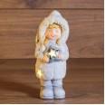 Керамическая фигурка `Снегурочка со звездой` 7,5*7,5*18 см