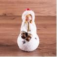 Керамическая фигурка `Снегурочка на шаре` 9*8*16 см