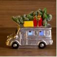 Керамическая фигурка `Автобус с елкой` 19*9*16 см