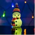 Фигура светодиодная `Снеговик` 10см, RGB