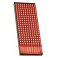 Маркер для кабеля сечением 4-6мм пустой красный
