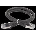 ITK Коммутационный шнур (патч-корд), кат.5Е FTP, 0,5м, черный