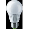 Лампа светодиодная (LED) «груша» d60мм E27 270° 10Вт 127В матовая нейтральная холодно-белая 4000К Navigator