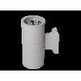 Светильник настенный наклад. с прозр. рассеив-м cветодиод. (LED) 2x9Вт 185-265В IP65 серый 1200лм 6500К Jazzway