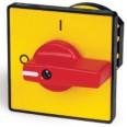 Желтая площадка и красн. ручка, 48х48, отв. 22 мм