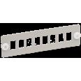 ITK Панель для 8-ми оптических адаптеров (SC или LC-Duplex в 19` кросс)